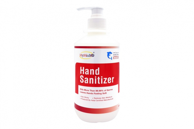 Hand Sanitizer (Liquid Type 500ml with CHG and Hydrogen Peroxide)